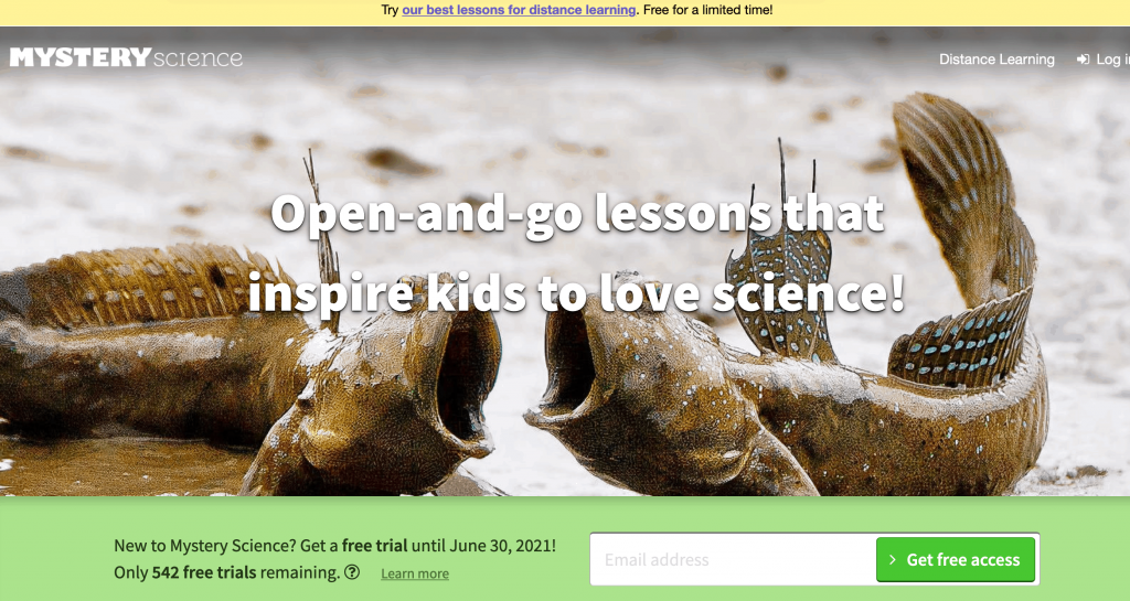 - list of science resources for kids